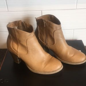 Faux-Leather Heel Booties